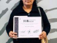 Araceli Soberanes Estrada, Primer lugar, categoría Textiles de lana y Algodón confeccionados en telar