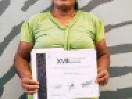 Regina Quiroz Alavez, Segundo lugar, categoría Textiles de lana y Algodón confeccionados en telar