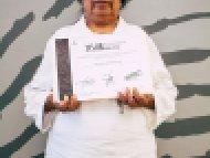 Margarita Amaro Alonso, Mención honorífica, categoría Textiles de lana y Algodón confeccionados en telar