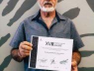 Gonzalo Humberto de la Parra Gómez, Tercer lugar, categoría Talla en madera