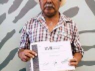 José Barreto Villalva, Mención honorífica, categoría Lapidaria