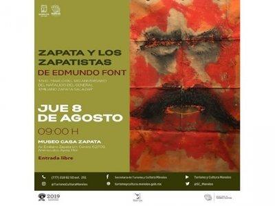 """<a href=""""/noticias/anuncian-proxima-apertura-de-la-exposicion-zapata-y-los-zapatistas-de-edmundo-font-en"""">Anuncian próxima apertura de la exposición Zapata y los Zapatistas de Edmundo Font en Morelo...</a>"""
