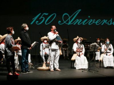 """<a href=""""/noticias/celebran-150-aniversario-de-banda-de-tlayacapan-brigido-santamaria"""">Celebran 150 aniversario de Banda de Tlayacapan """"Brígido Santamaría""""</a>"""